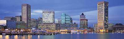 Maryland Photograph - Panoramic View Of An Urban Skyline At by Panoramic Images