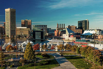 Inner Harbor Wall Art - Photograph - Panoramic View Of Baltimore Inner by Panoramic Images