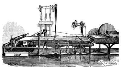 Pulley Photograph - Paper Mill by Science Photo Library
