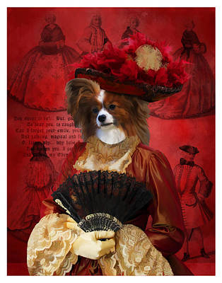 Painting - Papillon - Continental Toy Spaniel Art Canvas Print by Sandra Sij