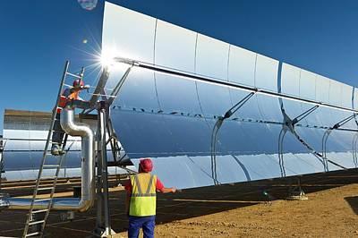 Parabolic Trough Solar Power Plant Art Print by Philippe Psaila
