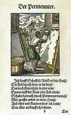 Parchment Maker, 1568 Art Print by Granger