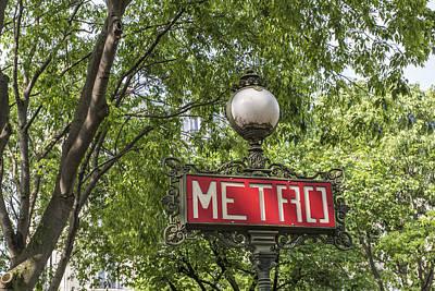 Metro Art Photograph - Parisian Metro by Georgia Fowler