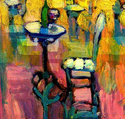 Painting - Paris Cafe At Sunset by Daniel Bonnell