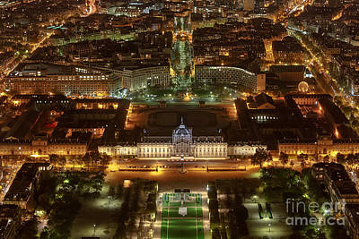 Paris Skyline Royalty-Free and Rights-Managed Images - Paris City Night View by Rostislav Bychkov