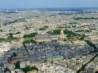 Paris Skyline Royalty-Free and Rights-Managed Images - Paris from Above by Scott Carda