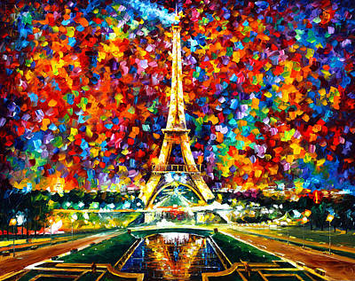Light Reflections Painting - Paris Of My Dreams by Leonid Afremov