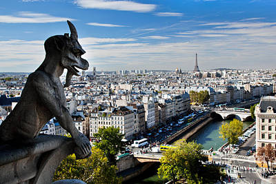 Paris Skyline Royalty-Free and Rights-Managed Images - Paris panorama France by Michal Bednarek