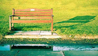 Park Bench Art Print by Tom Gowanlock
