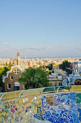 Park Guell Barcelona Art Print by Mesha Zelkovich