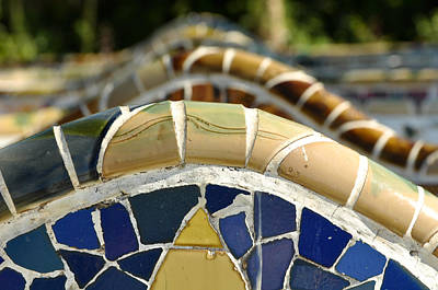 Photograph - Park Guell Benches by Brandon Bourdages
