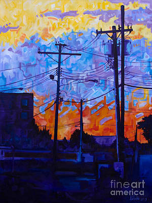 Parking Lot Sunset Original by Michael Ciccotello