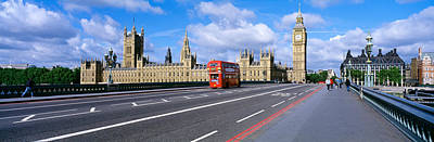 London Skyline Photograph - Parliament Big Ben London England by Panoramic Images