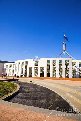 Federal Government Photograph - Parliament House Canberra Australia by Colin and Linda McKie