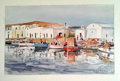 Painting - Paros-naousa by George Siaba