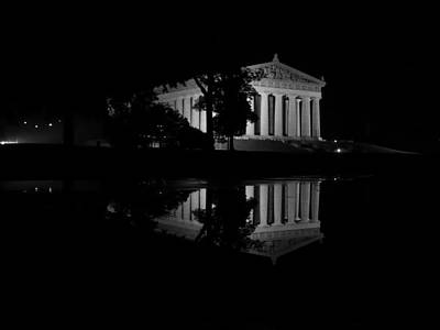 Photograph - Parthenon Puddle by Keith McGill