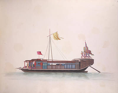 Illustration Technique Photograph - Passage Boat by British Library