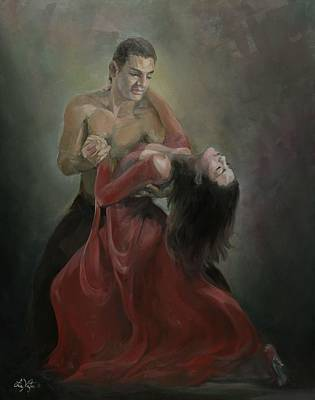 Painting - Passionate Paso Doble by Liz Viztes