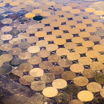 Patchworks. Aerial View To Texas's Fields Art Print