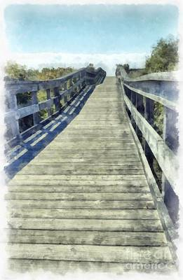 Maine Shoreline Photograph - Path To The Beach by Edward Fielding