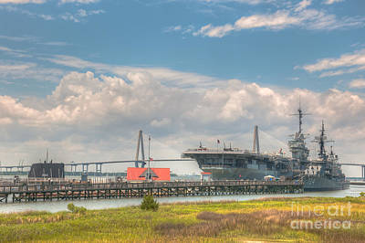 Photograph - Patriots Point  by Dale Powell