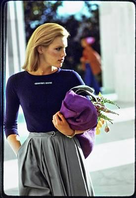 Photograph - Patti Hansen Wearing Geoffrey Beene by Arthur Elgort