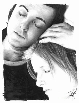 Paul Drawing - Paul And Linda Mccartney by Rosalinda Markle