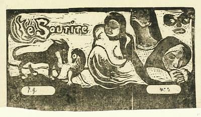 Paul Gauguin Drawing - Paul Gauguin, French 1848-1903, Title Page For Le Sourire by Litz Collection