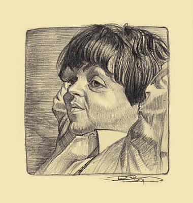 Mccartney Drawing - Paul Mccartney by Sri Priyatham