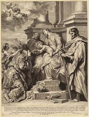 Paulus Pontius, After Sir Anthony Van Dyck Flemish Art Print by Quint Lox