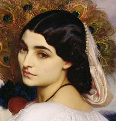 1859 Painting - Pavonia, 1859 by Frederic Leighton