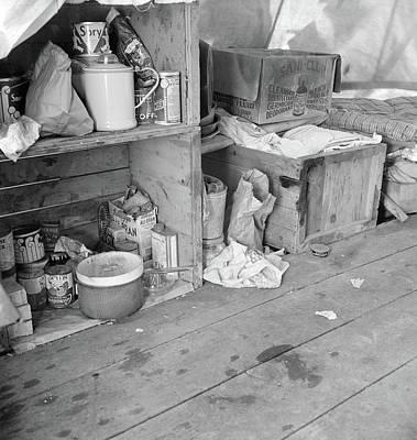 Pea Picker's Camp, 1939 Art Print
