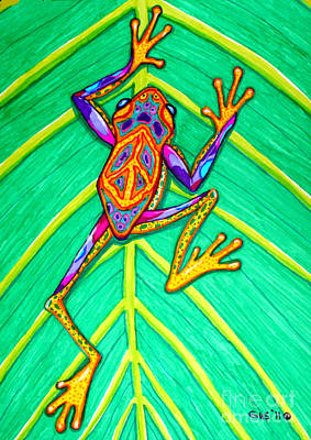 Amphibians Mixed Media - Peace Frog by Nick Gustafson