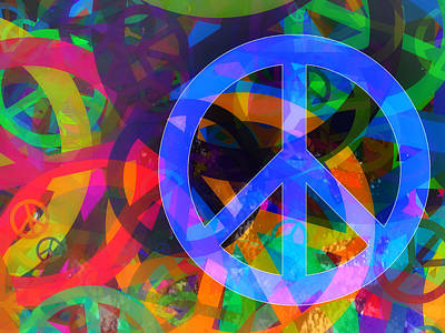 Peace Digital Art - Peace by Modern Art Prints