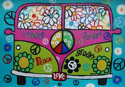 Painting - Peace Love Dub by Carol Hamby