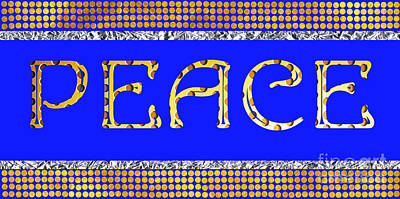 Caligraphy Photograph - Peace by Mariola Bitner