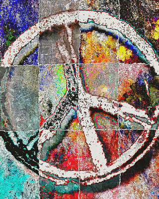 Now Digital Art - Peace Now by David G Paul