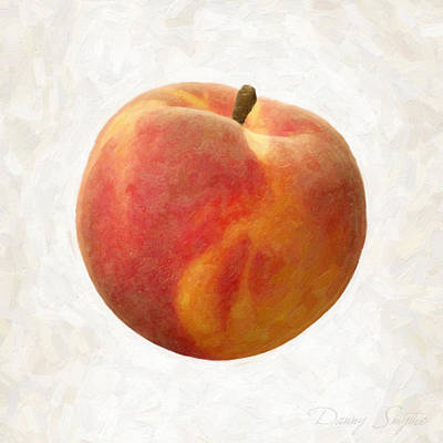 Isolated Painting - Peach by Danny Smythe