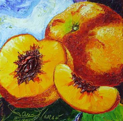 Peaches Art Print by Paris Wyatt Llanso