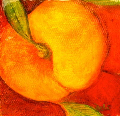 Fuzzy Mixed Media - Peachy by Debi Starr