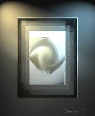 Digital Art - Pearl Abstract by Ines Garay-Colomba
