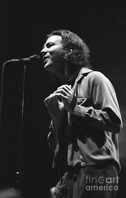 Eddie Vedder Photograph - Pearl Jam by Concert Photos