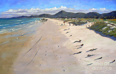South African Artist Painting - Pearly Beach by Marietjie Du Toit