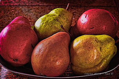 Photograph - Pears by Charles Muhle