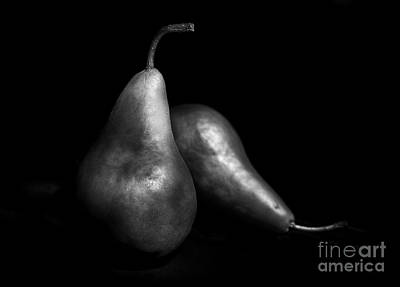Pears Still Life By Light Painting Art Print by Vishwanath Bhat