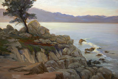 Painting - Pebble Beach Daybreak by Timon Sloane