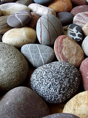 Photograph - Pebbles by Caroline Peacock
