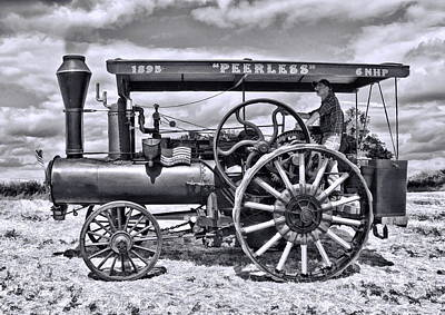 Digital Art - Peerless Steam Traction Engine by Paul Gulliver