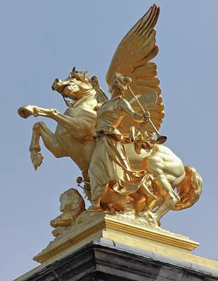 Sutton Photograph - Pegasus Statue At The Pont Alexander by William Sutton