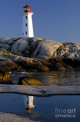Peggy's Cove Lighthouse Art Print by Norman Pogson